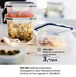 Ikea 365+ boîte de conservation, rectangulaire