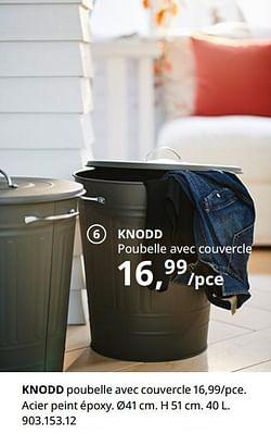 Knodd poubelle avec couvercle