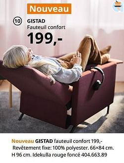 Gistad fauteuil confort
