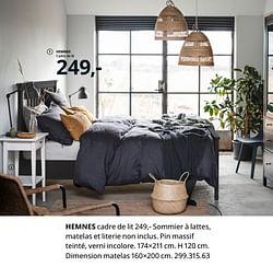 Hemnes cadre de lit
