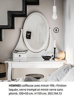 Hemnes coiffeuse avec miroir