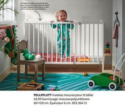 Pelleplutt matelas mousse pour lit bébé