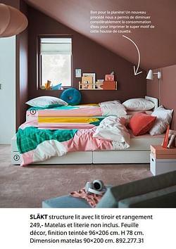 Släkt structure lit avec lit tiroir et rangement
