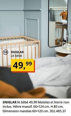 Sniglar lit bébé