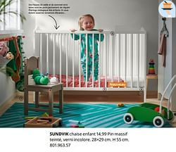 Sundvik chaise enfant