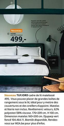 Tufjord cadre de lit matelassé