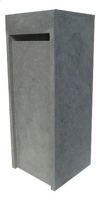 Vandix Brievenbus Cube blauwgrijs-Vandix