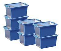Keter Kis Opbergbox Bi-Box blauw 11 l - 7 stuks-Keter Kis