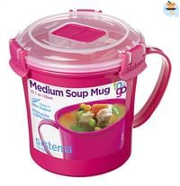Sistema Soepbeker Microwave Colour Medium Soup 656 ml-Sistema