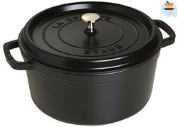 Staub Ronde stoofpan zwart 28 cm - 6,7 l