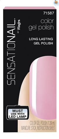 SensatioNail Gel Polish Pink Chiffon-Sensationail