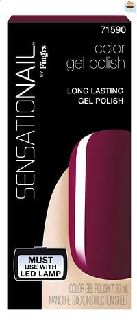 SensatioNail Gel Polish Sugar Plum-Sensationail