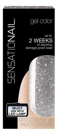 SensatioNail Gel Polish Silver Glitter-Sensationail