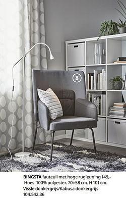 Bingsta fauteuil met hoge rugleuning