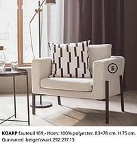 Koarp fauteuil-Huismerk - Ikea
