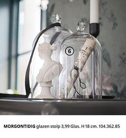 MORGONTIDIG glazen stolp