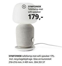 Symfonisk tafellamp met wifi-speaker