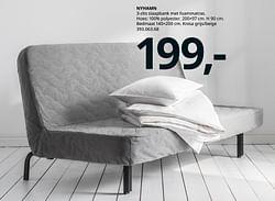 Nyhamn 3-zits slaapbank met foammatras