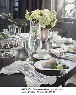 Arv bröllop serveerschaal op voet, met stolp