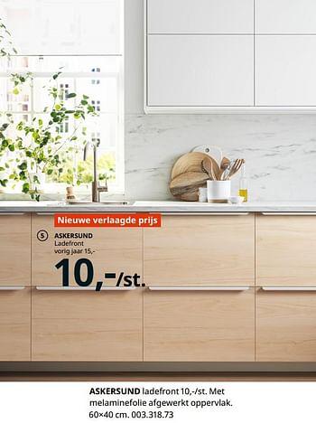 Ikea Promotie Askersund Ladefront Huismerk Ikea Keuken En Badkamer Geldig Tot 15 08 21 Promobutler