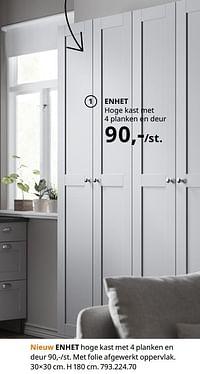 Enhet hoge kast met 4 planken en deur-Huismerk - Ikea