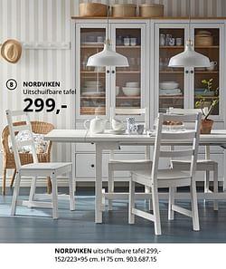 Nordviken uitschuifbare tafel