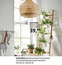 Satsumas plantenstandaard met 5 potten-Huismerk - Ikea