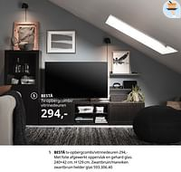 Bestå tv-opbergcombi-vitrinedeuren-Huismerk - Ikea