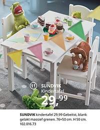 Sundvik kindertafel-Huismerk - Ikea