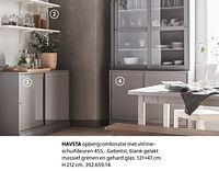 Havsta opbergcombinatie met vitrine-Huismerk - Ikea