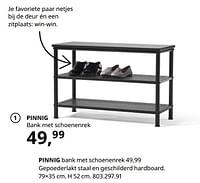 Pinnig bank met schoenenrek-Huismerk - Ikea