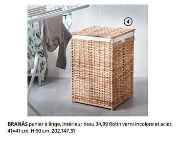 Promotion Ikea Branas Panier A Linge Interieur Tissu Produit Maison Ikea Menage Valide Jusqua 4 Promobutler