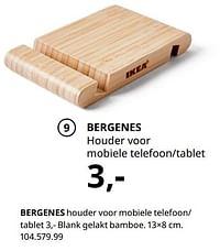 Bergenes houder voor mobiele telefoon- tablet-Huismerk - Ikea