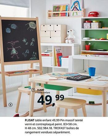 Promotion Ikea Flisat Table Enfant Produit Maison Ikea Meubles Valide Jusqua 4 Promobutler