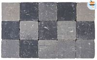 Cobogarden Klinker getrommeld 15 x 15 x 4 cm grijs/zwart-Cobo Garden