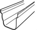 Dakgoot Coex C140 2 m donkergrijs-Scala