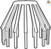 Bladvanger 80 mm grijs-Scala