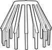 Bladvanger 80 mm grijs
