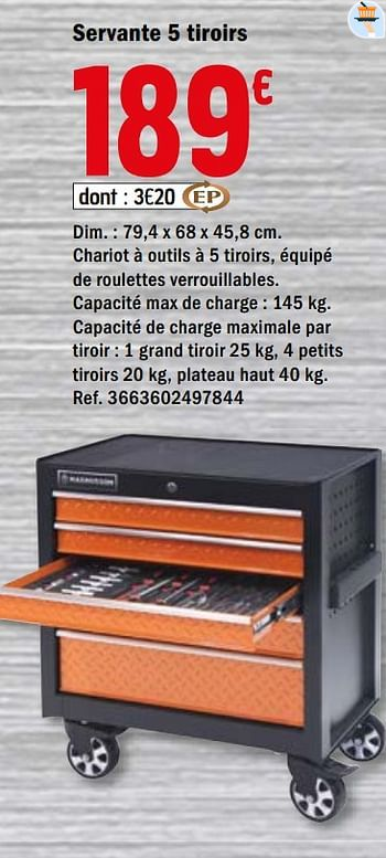 Promotion Brico Depot Servante 5 Tiroirs Magnusson Bricolage Valide Jusqua 4 Promobutler
