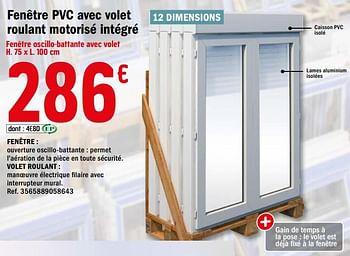 Promotion Brico Depot Fenetre Pvc Avec Volet Roulant Motorise Integre Produit Maison Brico Depot Construction Renovation Valide Jusqua 4 Promobutler