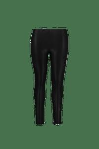 MS Mode Dames Legging van imitatieleer Zwart-Huismerk - MS Mode