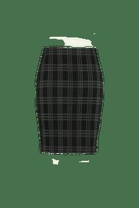 MS Mode Dames Rok met print-Huismerk - MS Mode
