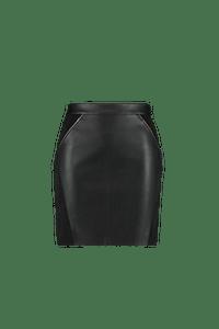 MS Mode Dames Rok met studsdetail Zwart-Huismerk - MS Mode