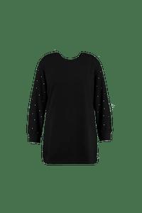 MS Mode Dames Top met lange mouwen Zwart-Huismerk - MS Mode