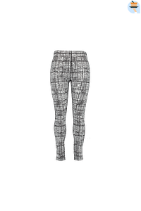 MS Mode Dames Legging met print-Huismerk - MS Mode