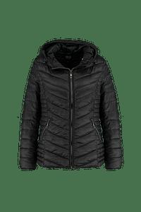 MS Mode Dames Lichte tussenjas Zwart-Huismerk - MS Mode