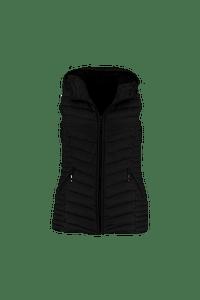 MS Mode Dames Bodywarmer Zwart-Huismerk - MS Mode