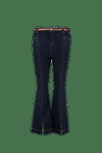 MS Mode Dames High waist jeans met splits Denim-Huismerk - MS Mode