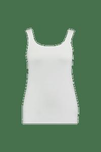 MS Mode Dames Katoenen singlet Wit-Huismerk - MS Mode
