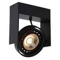 Lucide LED Plafondspot Griffon GU10 1 x 12 W langwerpig zwart-Lucide
